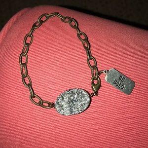"""""""Be Bold"""" stone bracelet"""
